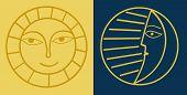 Lua e sol abstrato