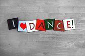 stock photo of jive  - I Love Dance - JPG