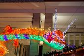 Christmas Lights Dragon