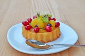 Fruit Tart Sponge Cake