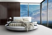foto of exclusive  - Exclusive Modern Design Bedroom with aerial view - JPG