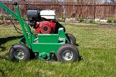 stock photo of aeration  - Lawn Aerator - JPG