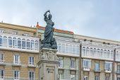 Monumento a María Pita, A Coruña, Galicia, España.