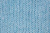 Blue Knitted Textured Background