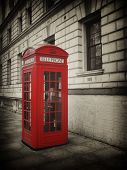 Vintage Style picture of Telephone Box in London