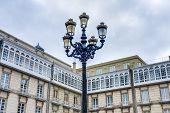 Maria Pita Square In A Coruna, Galicia, Spain