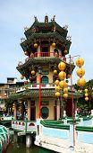 The Beautiful Autumn Pavilion In Taiwan