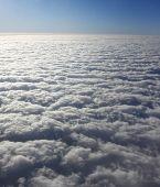Clouds above Saint Lucia, Caribbean
