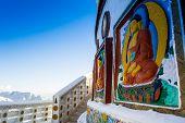 Shanti Stupa- side walls