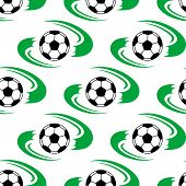 Soccer ball or football seamless pattern