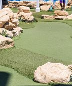 Fake Grass On Miniature Golf Course