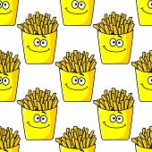 Smiling takeaway French fries