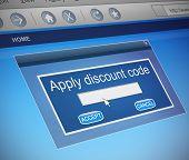 Discount Code Concept.