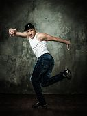 foto of break-dance  - Man dancer showing break - JPG
