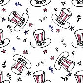 Holiday american hat pattern
