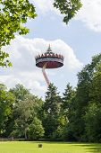 Kaatsheuvel/the Netherlands - May 23Th, 2014: Efteling Park Ride Pagode Rising Above The Forrest