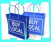 Buy Local Shopping Bags Promote Buying Products Locally