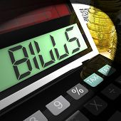 Bills Calculated Means Invoices Payable And Owing