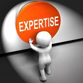 Expertise Pressed Means Skilled Specialist And Proficiency
