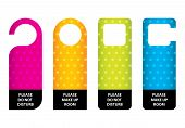 Special Hotel Do Not Disturb Door Hanger With Dotted Design