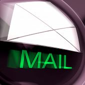 Mail Postage Shows Sending And Receiving Message Or Goods
