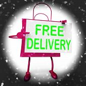 Free Delivery On Shopping Bag Shows No Charge  To Deliver