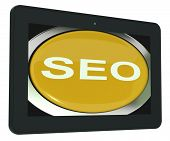 Seo Tablet Shows Increase Search Engine Optimization
