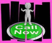 Call Now Pressed Shows Customer Support Helpline
