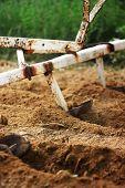 plough machine work the soil