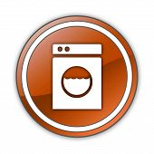 image of laundromat  - Icon Button Pictogram Image Illustration with Laundromat symbol - JPG