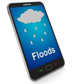 pic of flood  - Floods On Mobile Showing Rain Causing Floods And Flooding - JPG