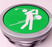stock photo of miniature golf  - Golf Switch Meaning Golfer Club Or Golfing - JPG
