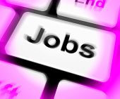 Jobs Keyboard Shows Hiring Recruitment Online Hire Job