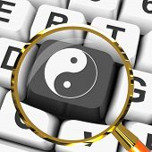 Ying Yang Key Magnified Means Spiritual Peace Harmony
