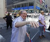 NYC Comptroller Scott Stringer waving