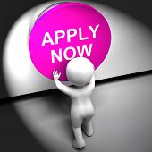 Apply Now Pressed Shows Job Opening And Application