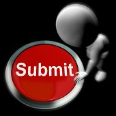 Submit Pressed Shows Submission Or Handing In