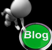 Blog Pressed Means Information Or Expressing Thoughts Online
