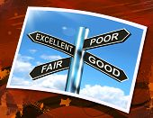 Excellent Poor Fair Good Sign Means Performance Review
