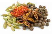 star anise , cardamom, saffron ,black allspice