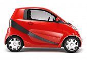 Red Hybrid car.