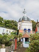 Italian inspired ornate buildings in Portmeirion