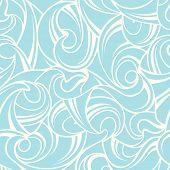 Abstract blue seamless pattern. Vector illustration.