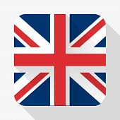 Simple flat icon Great Britain flag.