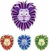 Lion head cartoon