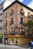 MADRID, SPAIN - MAY 28, 2014: old Madrid city center