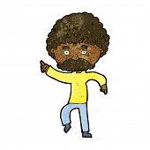 cartoon seventies style man disco dancing