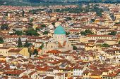 Top View Of The Historic Center Of Florence, Italy