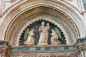 Fragment Of Facade Duomo Santa Maria Del Fiore, Florence, Italy
