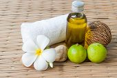 Spa Treatment With Olive Oil And Lime With Towels